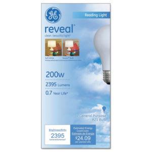 GE Reveal® A21 Light Bulb