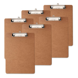 Universal® Hardboard Clipboard with Low-Profile Clip