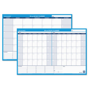 AT-A-GLANCE® 30/60-Day Undated Horizontal Erasable Wall Planner