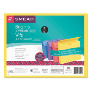 Smead® Expanding Wallet With Antimicrobial Product Protection