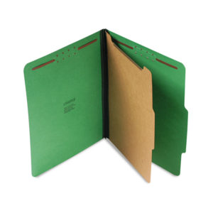 Universal® Bright Colored Pressboard Classification Folders