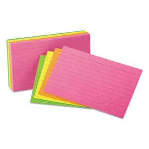 Universal® Ruled Neon Glow Index Cards