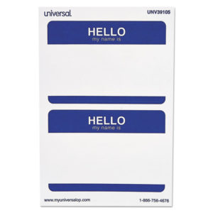 Universal® Self-Adhesive Name Badges