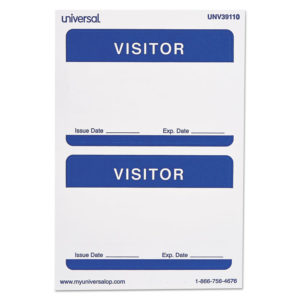 Universal® Self-Adhesive Name Badges
