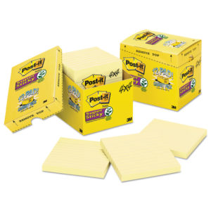 Post-it® Notes Super Sticky Pads in Canary Yellow