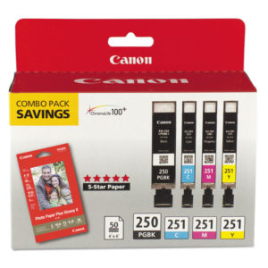Canon® 6497B004 Inks & Paper Pack