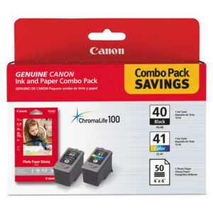 Canon® 0615B009 Ink Cartridge and Glossy Photo Paper Combo Pack
