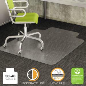 deflecto® DuraMat® Moderate Use Chair Mat for Low Pile Carpeting