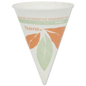 Dart® Bare® Eco-Forward® Paper Cone Water Cups