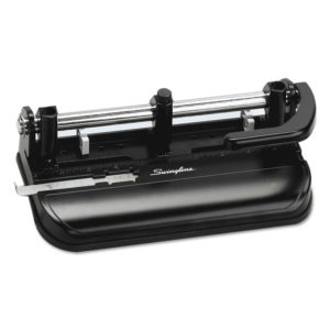 Swingline® Lever Handle Heavy-Duty Two- to Three-Hole Punch