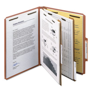 Smead® 100% Recycled Pressboard Classification Folders
