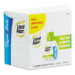 Paper Mate® Liquid Paper® Fast Dry and Smooth Coverage Correction Fluid