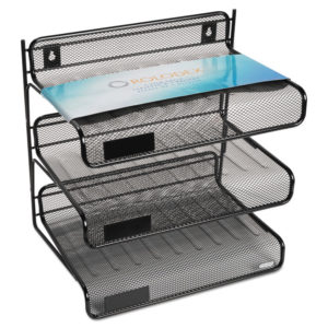 Rolodex™ Mesh Three-Tier Desk Shelf