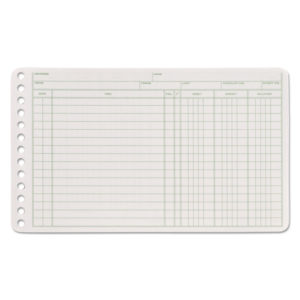 Adams® Six-Ring Ledger Binder Refill Sheets