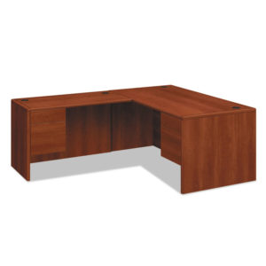 """HON® 10700 Series™ """"L"""" Workstation Desk with Three-Quarter Height Pedestal on Right"""