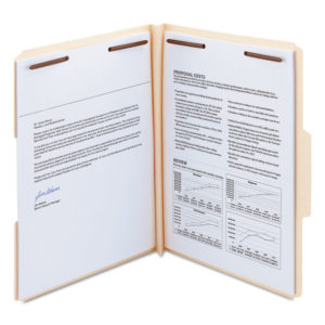 Smead® Top Tab Manila Expansion Fastener Folders