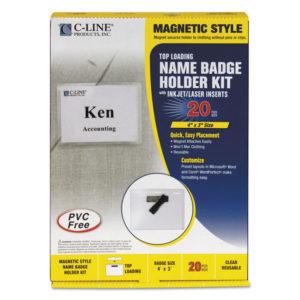 C-Line® Magnetic Name Badge Holder Kit