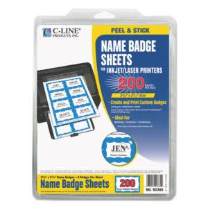 C-Line® Laser Printer Name Badges
