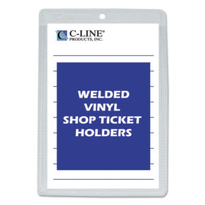 C-Line® Clear Vinyl Shop Ticket Holder