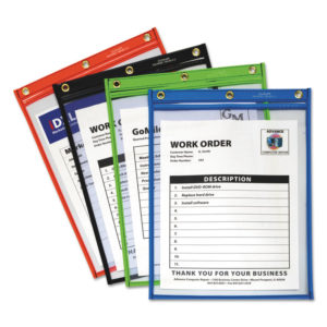 C-Line® Heavy-Duty Super Heavyweight Plus Stitched Shop Ticket Holders