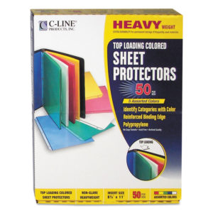 C-Line® Colored Sheet Protector