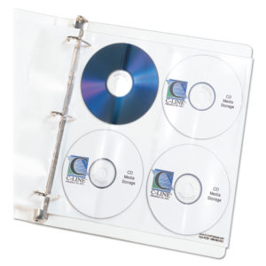 C-Line® Deluxe CD Ring Binder Storage Pages