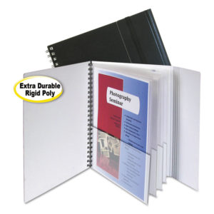 C-Line® Eight-Pocket Portfolio with Security Flap