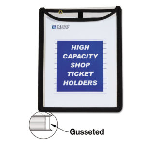 C-Line® High Capacity Stitched Shop Ticket Holders