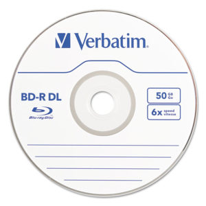 Verbatim® Blu-Ray™ BD-R Recordable Dual-Layer Disc