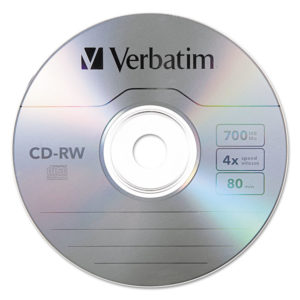 Verbatim® CD-RW Rewritable Disc