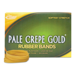 Alliance® Pale Crepe Gold® Rubber Bands