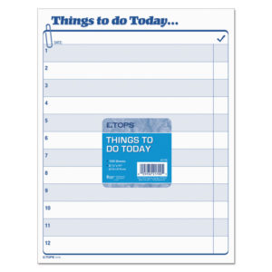 "TOPS™ ""Things To Do Today"" Daily Agenda Pad"