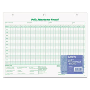 TOPS™ Daily Attendance Card