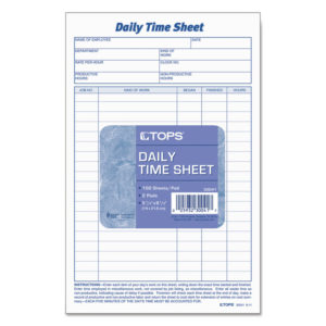 TOPS™ Daily Time and Job Sheets