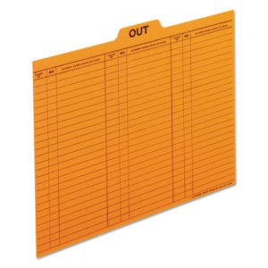 Pendaflex® Salmon Colored Charge-Out Guides