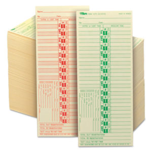 TOPS™ Time Clock Cards