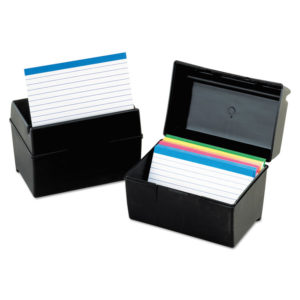 Oxford™ Plastic Index Card File
