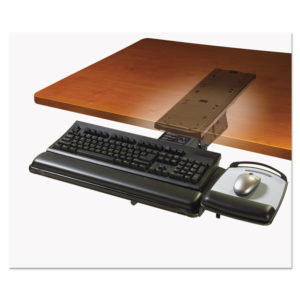 3M™ Lever-Adjust Keyboard Tray with Highly Adjustable Platform