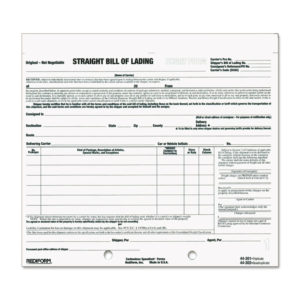 Rediform® Snap-A-Way® Bill of Lading