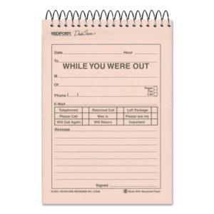 Rediform® Desk Saver Line™ Wirebound Message Book