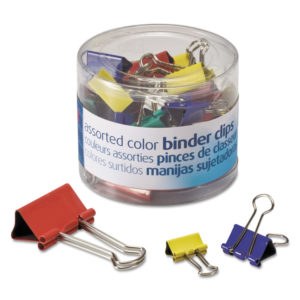 Officemate Assorted Colors Binder Clips