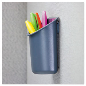 Universal® Deluxe Recycled Plastic Cubicle Pencil Cup