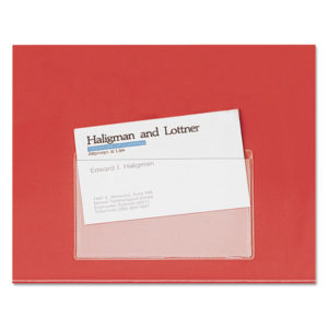 Cardinal® HOLD IT® Poly Business Card Pocket