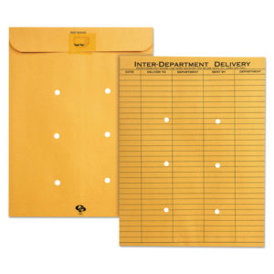 Quality Park™ Brown Kraft Resealable Redi-Tac™ Interoffice Envelope