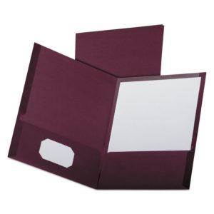 Oxford™ Linen Twin-Pocket Folder