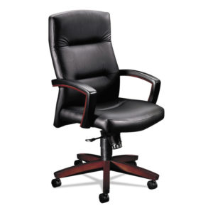 HON® 5000 Series Park Avenue Collection® Executive High-Back Swivel/Tilt Leather Chair