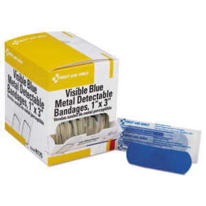 First Aid Only™ Metal Detectable Woven Adhesive Bandages