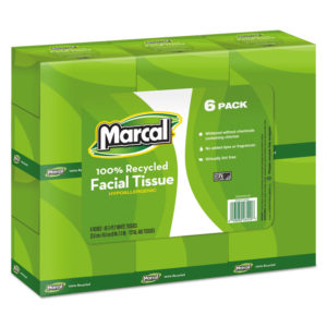 Marcal® 100% Recycled Convenience Pack Facial Tissue