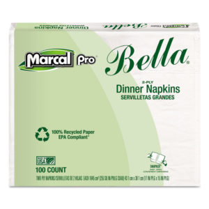 Marcal PRO™ 100% Recycled Bella® Dinner Napkins
