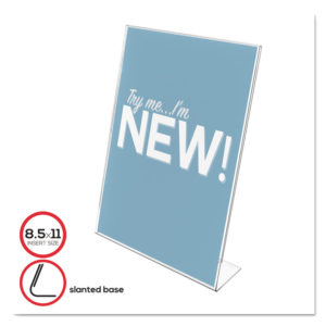 deflecto® Slanted Sign Holder